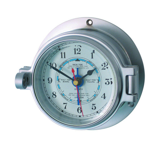 "Royal Mariner 3"" Channel Matt Chrome Tide Clock"