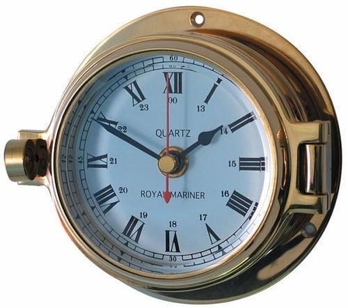 "Royal Mariner 3"" Channel Brass Clock"