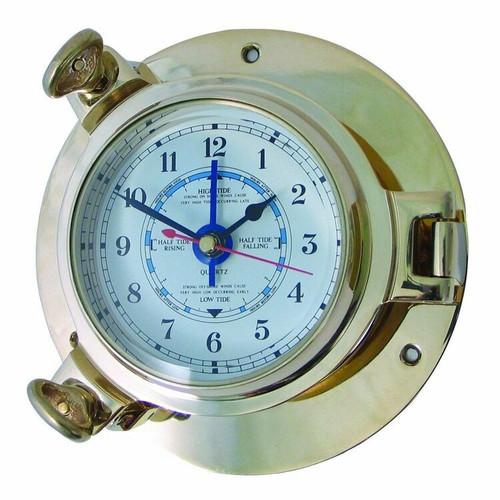 Royal Mariner Porthole Medium Brass Tide Clock