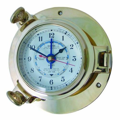 Royal Mariner Porthole Large Brass Tide Clock