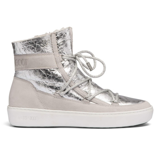 Moonboot PULSE CRACLED SILVER