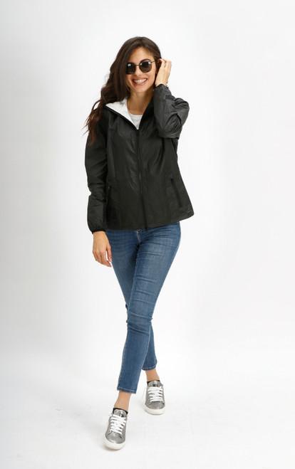 chaqueta AMY negra encerada color 052