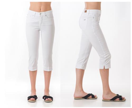 pantalon capri SOS jeans color blanco
