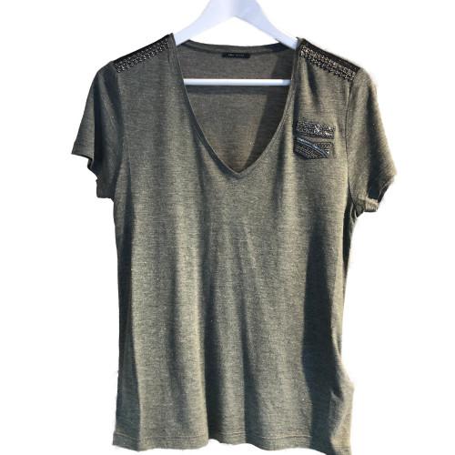 camiseta IKKS women BT10575 color kaki green