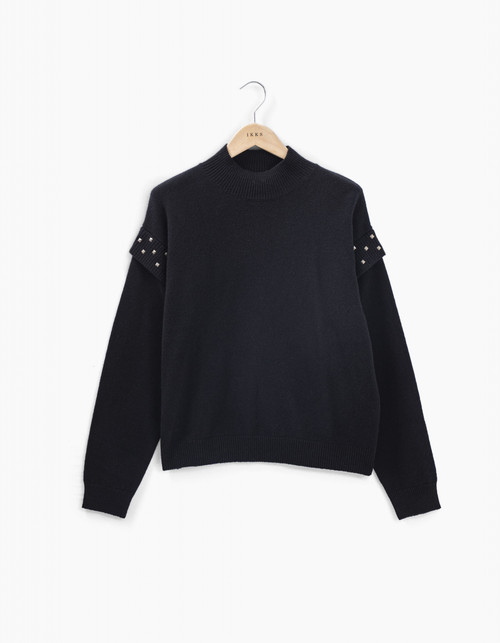 jersey Ikks women BT18175 color negro