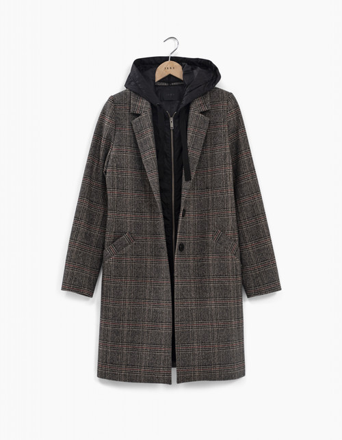 abrigo capucha Ikks women BT44095