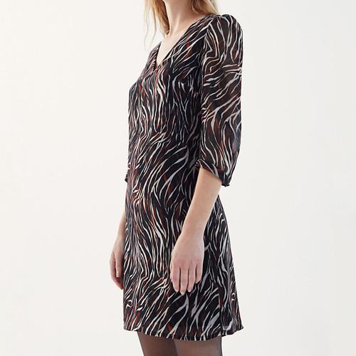 Vestido IKKS BT30635 print animal zebra en tonos cálidos
