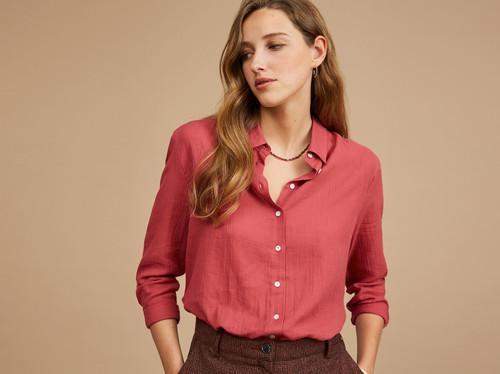 camisa Harriswillson women modelo Ebony color Litchi