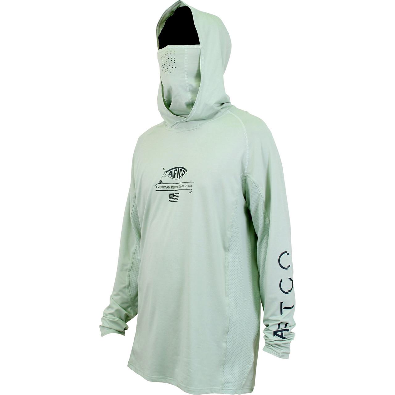 AFTCO Samurai Sun Protection Hoodie-Fishing Shirt--UPF 50 Free Shipping White