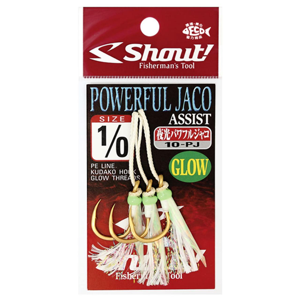 Shout Powerful Jaco 08-PJ Assist Hooks Kudako Tackle Jigging Sizes 4//0 5//0