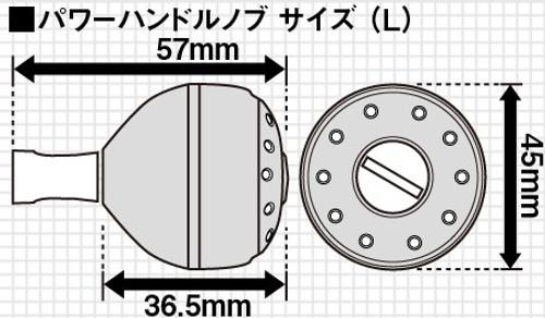 Shimano Yumeya ALUMINUM ROUND POWER HANDLE KNOB GRAY M Type A