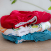 Pea Pods Reusable Nappy Red