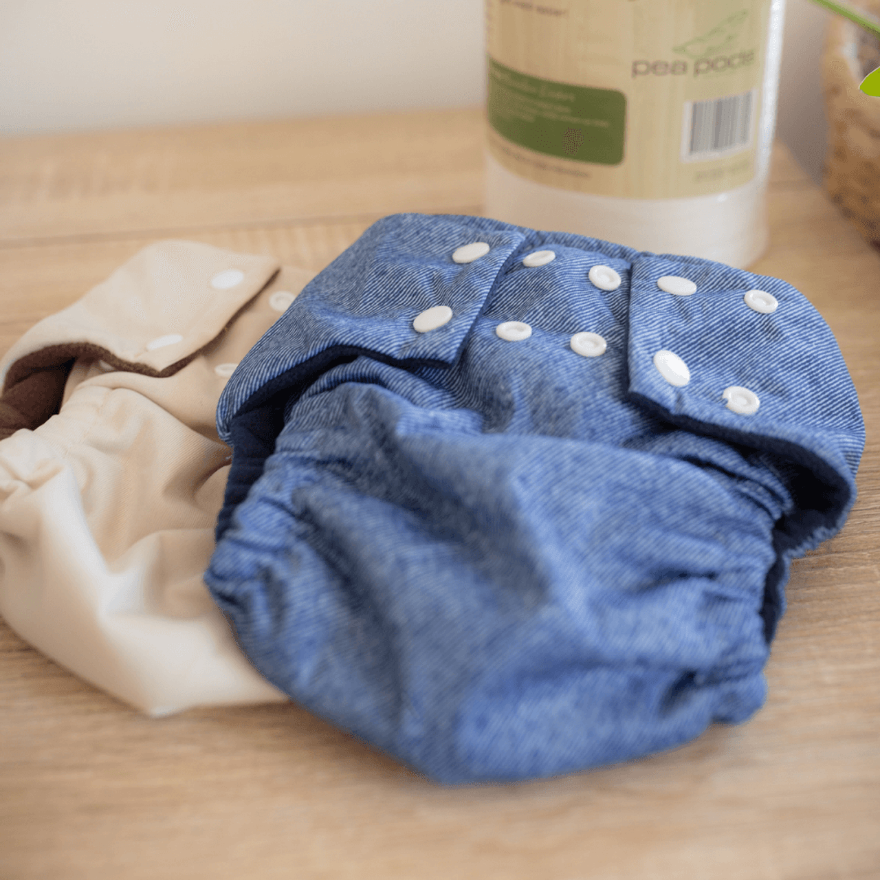 Pea Pods Reusable Nappies Denim
