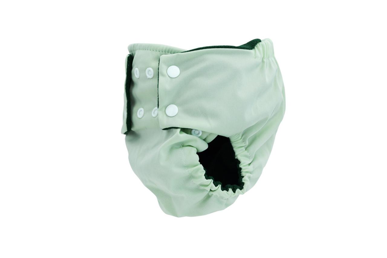 Pea Pods Reusable Nappy Pastel Green