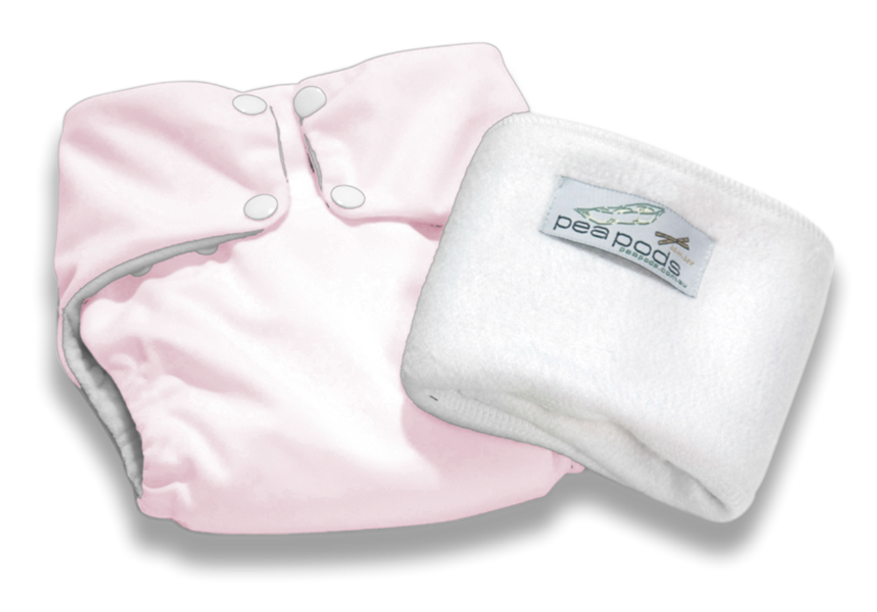 Pea Pods Reusable Nappy Pastel Pink
