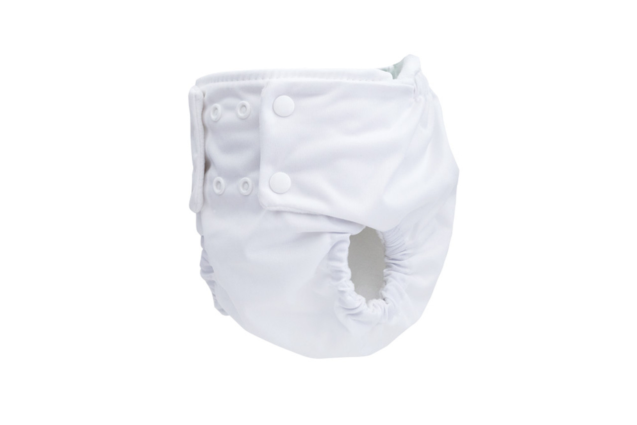 Pea Pods Reusable Nappy White