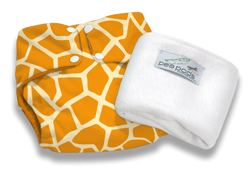 Pea Pods Reusable Nappy Giraffe
