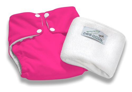 Pea Pods Reusable Nappy Hot Pink