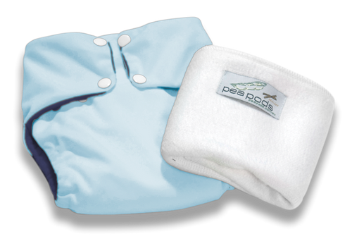 Pea Pods Reusable Nappy Pastel Blue