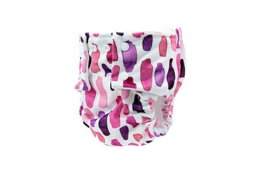 Pea Pods Reusable Nappy Pink Watercolour