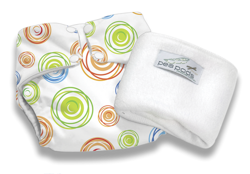 Pea Pods Reusable Nappy Swirl Print