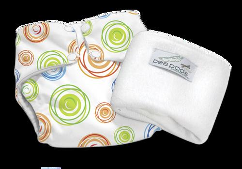 Pea Pods Reusable Nappy Swirl Print