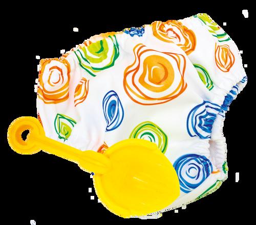 Swirl Print Swim Nappy