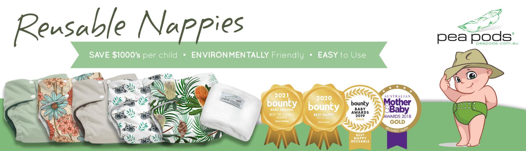 Reusable Nappies - Pea Pods Australia