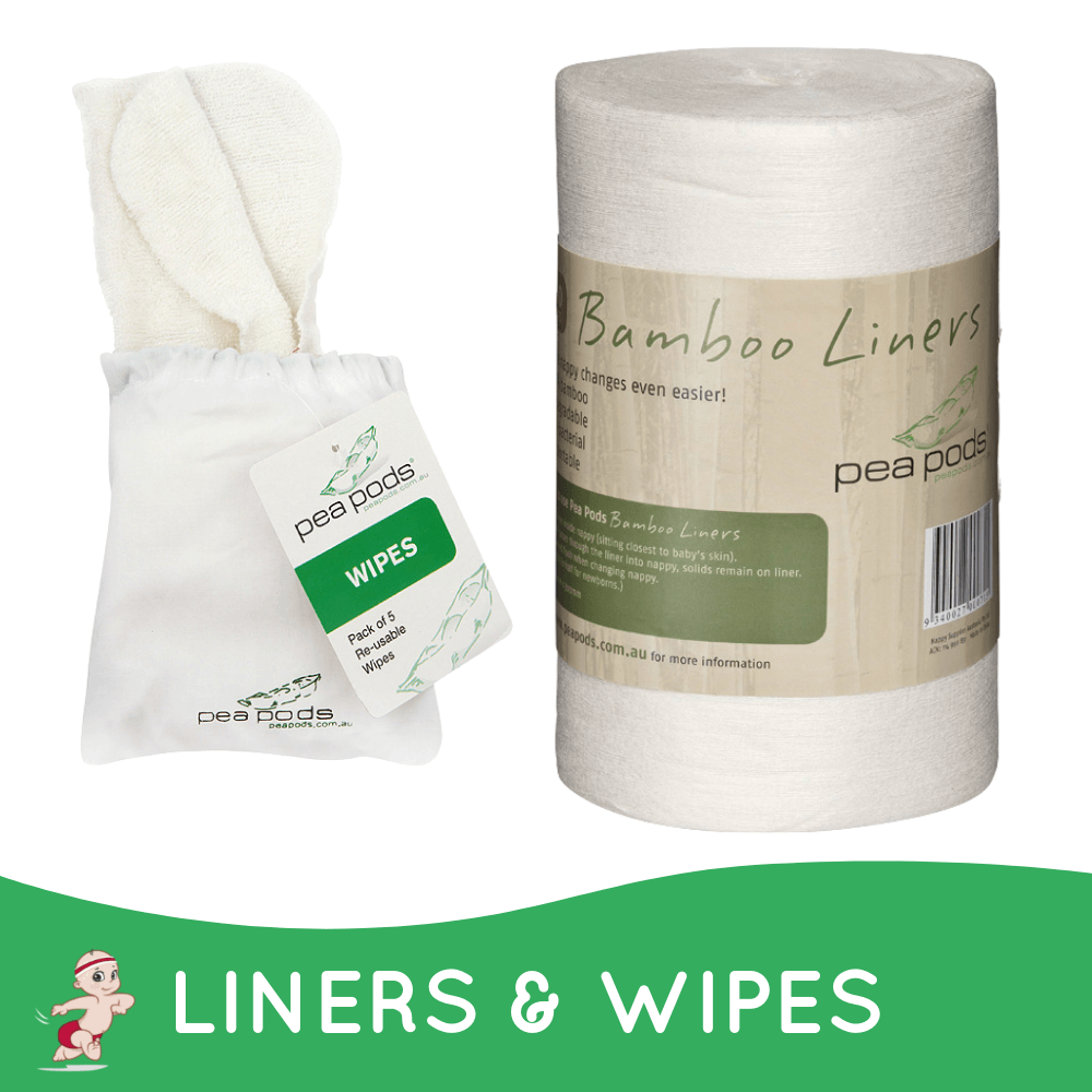 Pea Pods 100% bamboo liners & wipes