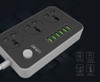 DEVOLTA 3 Way Universal Outlets Power Strip with 6 Smart USB Ports Extension Lead with 5.9ft Power Cord