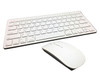 DEVOLTA Mini Wireless 2.4Ghz White Keyboard and Mouse Combo for Apple iMac MacBook MacBook Pro