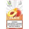 5 DEGREE JUUL COMPATIBLE Premium Eliquid PODS 1ml capacity - 4 PACK - Peach