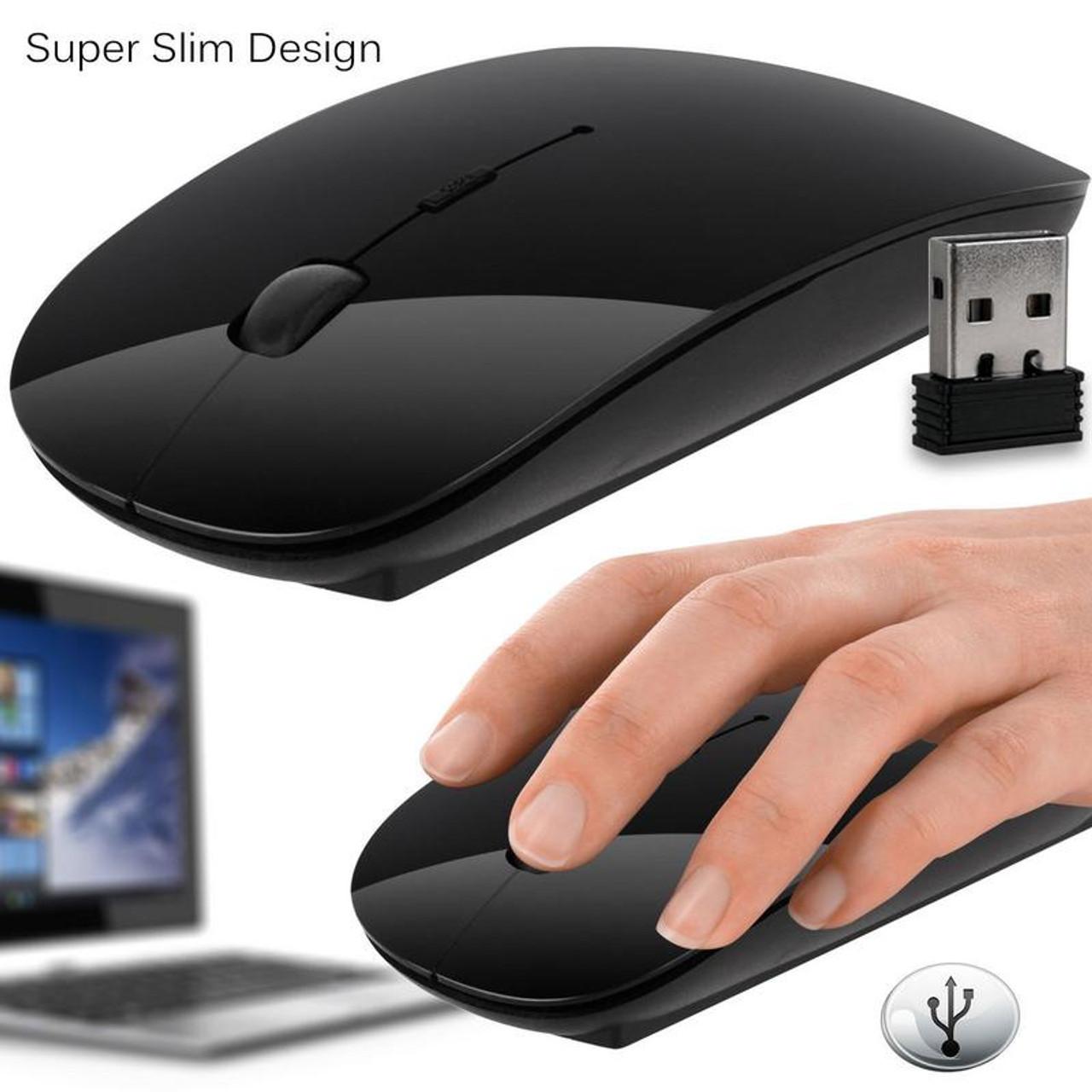 d7c5488939e DEVOLTA Slim wireless Optical Mouse with 2.4 Ghz USB receiver For Laptops/Desktop  PC /