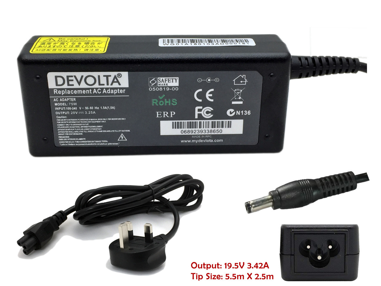 Charger for Toshiba NB100-12A