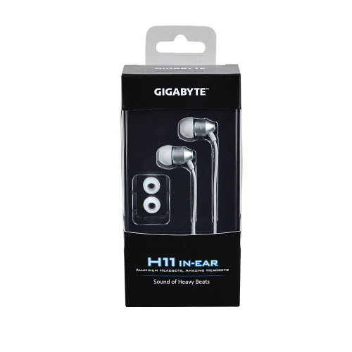 Gigabyte H11 Aluminum In-Ear Headphones Silver for iPhone, Samsung, Sony, HTC