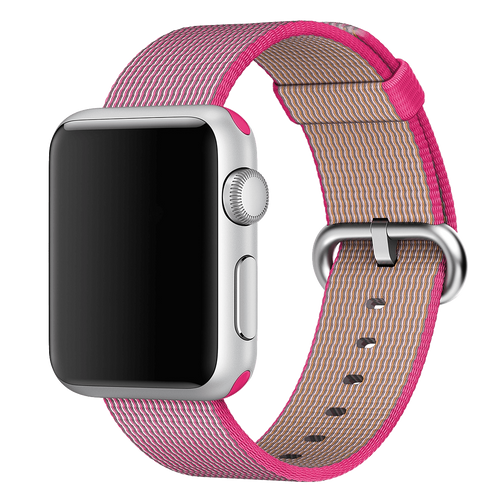 Apple Watch 38MM Pink Woven Nylon Buckle - Pink - ( MM9P2ZM/A )