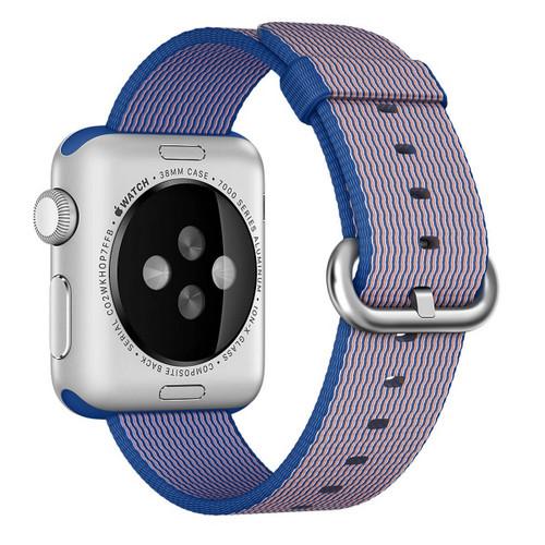 Apple Watch 38MM Royal Blue Woven Nylon Buckle - Royal Blue - ( MM9N2ZM/A )