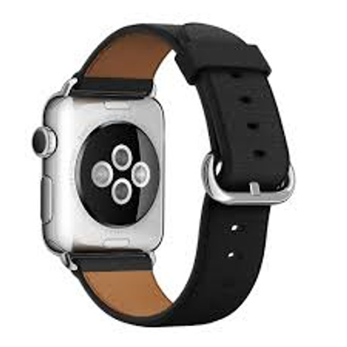 Apple Watch 38MM Black Leaterh Classic Buckle - Black - ( MLHG2ZM/A )