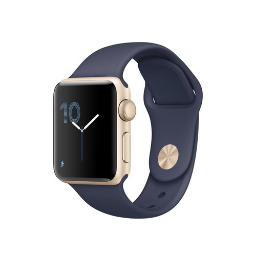 Apple Watch 38MM Gold / Royal Blue Woven Nylon Buckle - Gold/Royal Blue - ( MM9M2ZM/A )