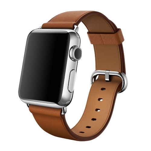 Apple Watch 38MM Saddle Brown Leather Classic Buckle - Saddle Brown - ( MLDY2ZM/A )