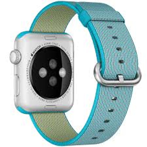 Apple Watch 42MM Scuba Blue Woven Nylon Buckle - Scuba Blue - ( MM9X2AM/A )