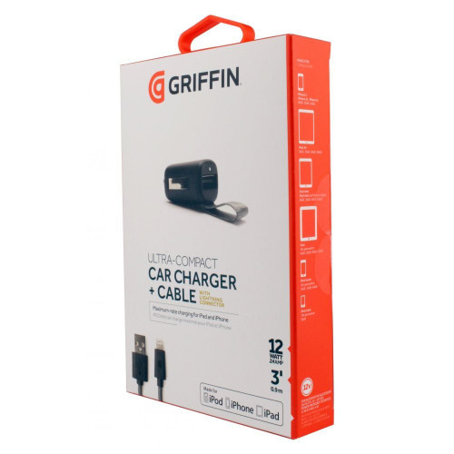 GRIFFIN Power Jolt Ultra Compact Car Charger with Lightning Connector - ( GC39940 )