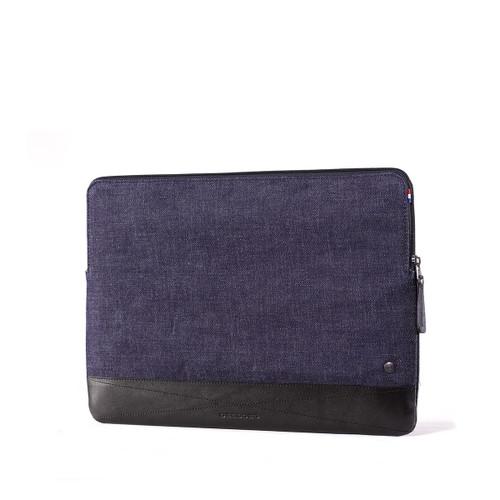 "DECODED Leather Slim Sleeve for 13"" MacBook Air / Pro / Pro Retina Display - Black Denim - ( DA4SS13BKDM )"