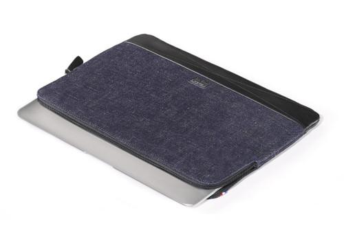 "DECODED Leather Slim Sleeve for 15"" MacBook Pro / Pro Retina Display - Black Denim - ( DA4SS15BKDM )"