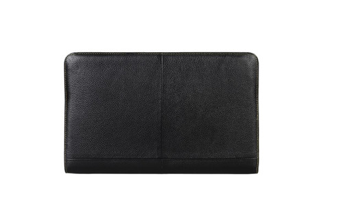 "DECODED Leather Slim Cover for 11"" MacBook Air Hand made and Genuine Leather - Black - ( D2MA11SC1BK )"