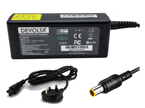 DEVOLTA Adaptor Charger for Lenovo T500 T510 T510i Notebook Laptop 65W