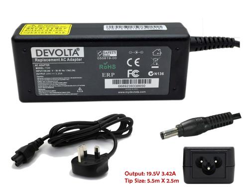 DEVOLTA Adaptor Charger for Toshiba C660D, T130, L755, C650D Series Laptop 65W