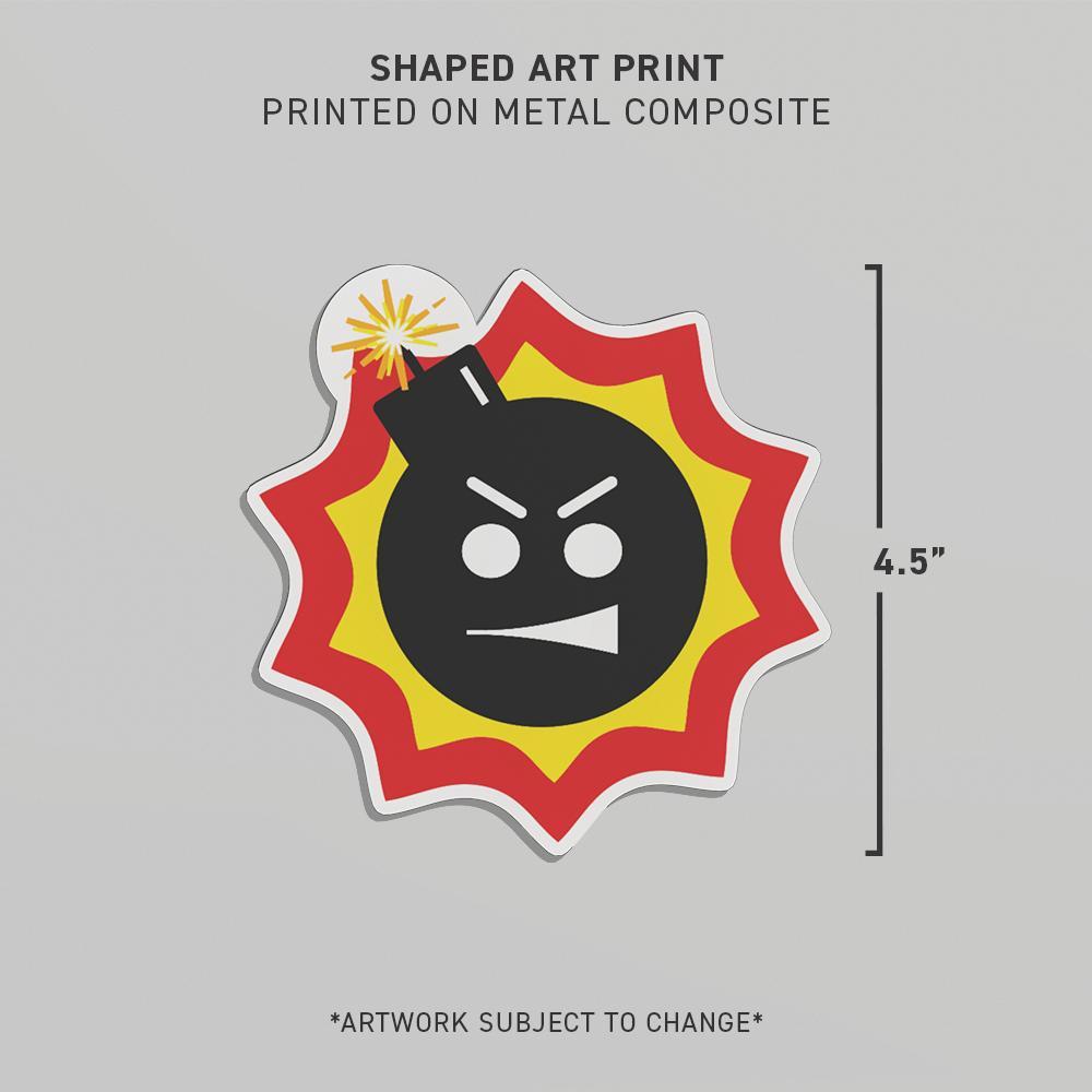 SERIOUS SAM 4 SHAPED ART PRINT