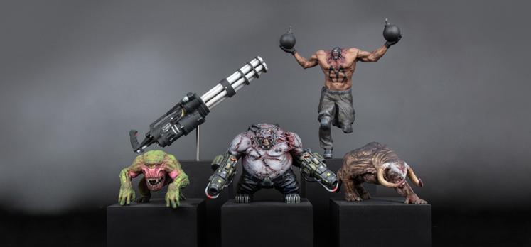 Serious sam 4 collectible figures