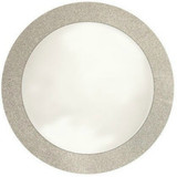 Gorgeous charger plate that will enhance any tablesetting. Made from disposable cardboard, each charger plate measures 14 inches in diameter, and fits standard sized dinner plate. Great for weddings, events, catering, and more!